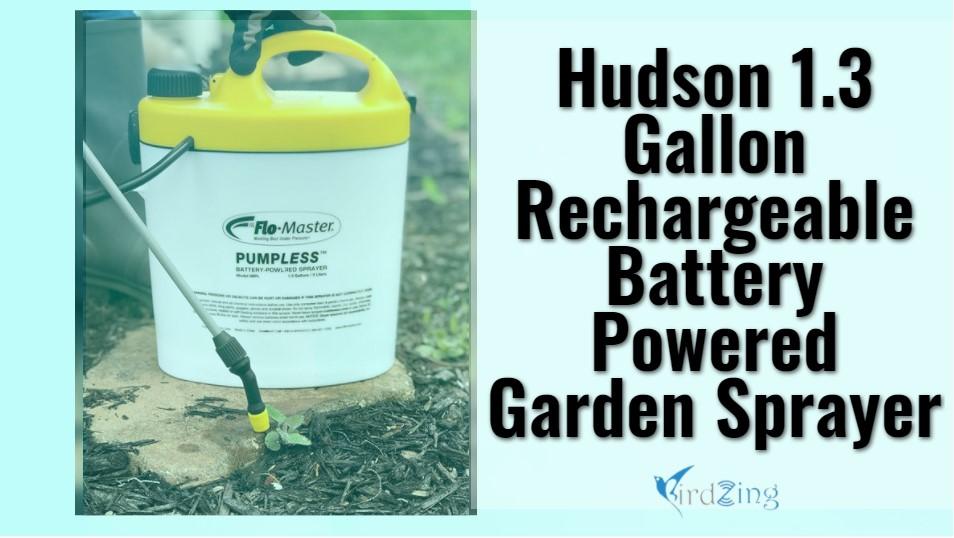 Hudson 13 Gallon Rechargeable Battery Powered Garden Sprayer
