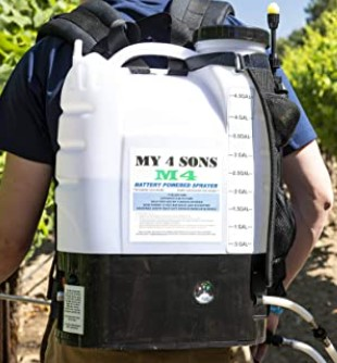MY4SONS 4-Gallon Battery-Powered Backpack Sprayer