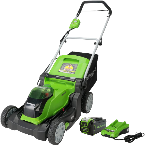 greenworks 17 inch 40v cordless lawn mower review